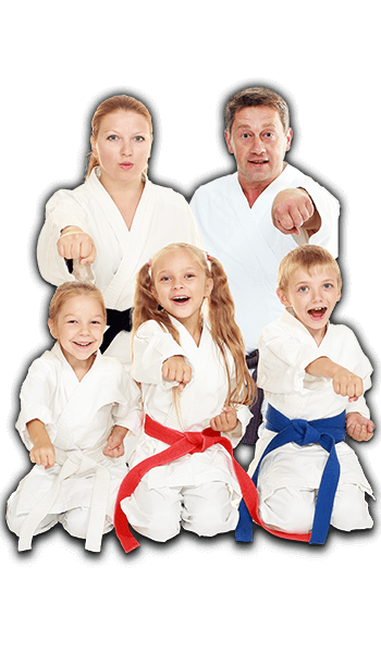 Martial Arts Lessons for Families in Middle River MD - Sitting Group Family Banner