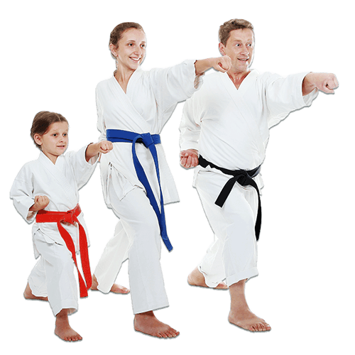 Martial Arts Lessons for Families in Middle River MD - Man and Daughters Family Punching Together