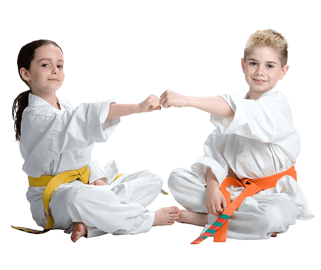 Martial Arts Lessons for Kids in Middle River MD - Kids Greeting Happy Footer Banner